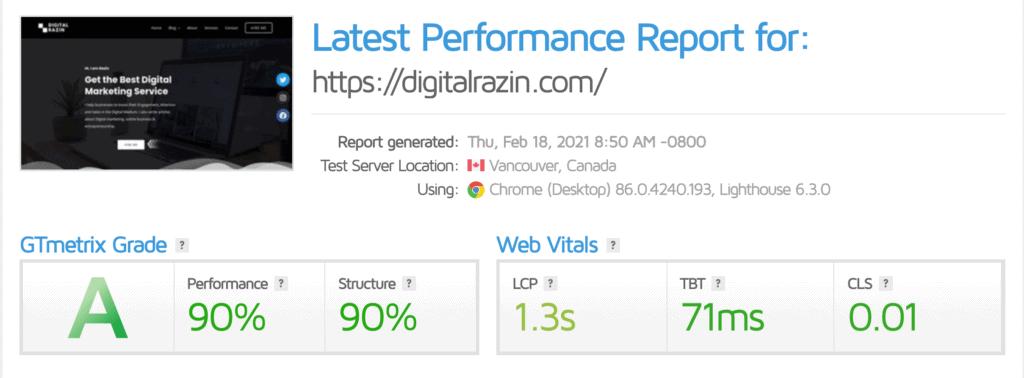 How to improve website loading speed | Digital Razin