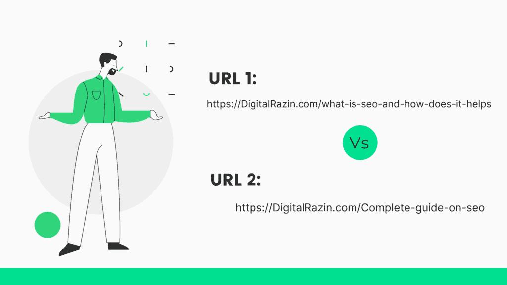 URL 1 or URL 2